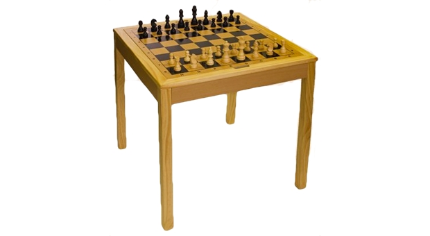 Sterling Wooden Backgammon & Chess Table 2