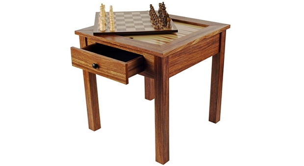 Wood 3-in-1 Backgammon Table 2