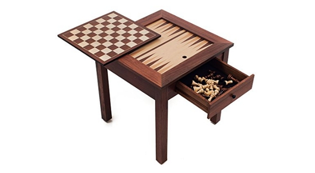 Wood 3-in-1 Backgammon Table